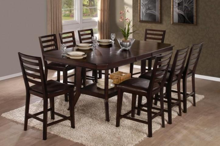 Bobbie Dark Espresso Counter Height Dining Room Set