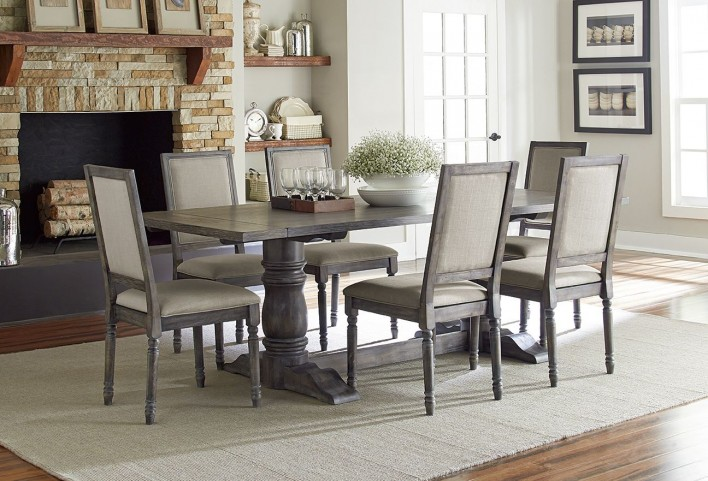 Muses Dove Grey Muses Rectangular Dining Room Set