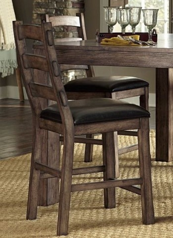 Boulder Creek Pecan Veneer Counter Chair Set of 2