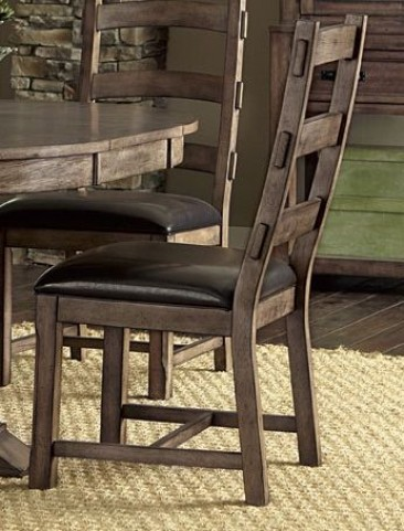 Boulder Creek Pecan Veneer Dining Chair Set of 2