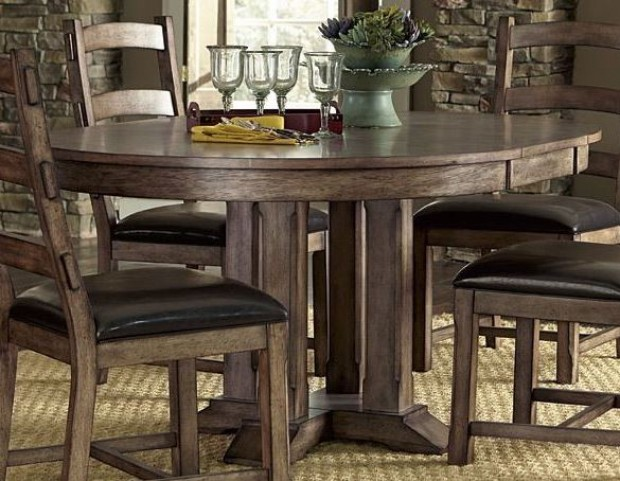 Boulder Creek Pecan Veneer Dining Table