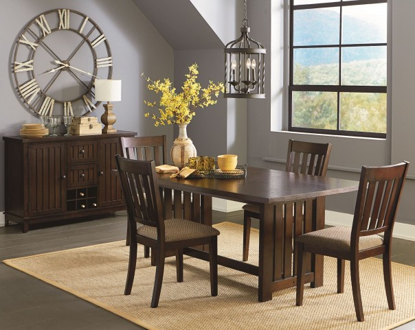 Kennedy Bruno Brown Dining Room Set