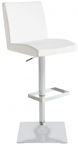 Pacifico White Adjustable Barstool