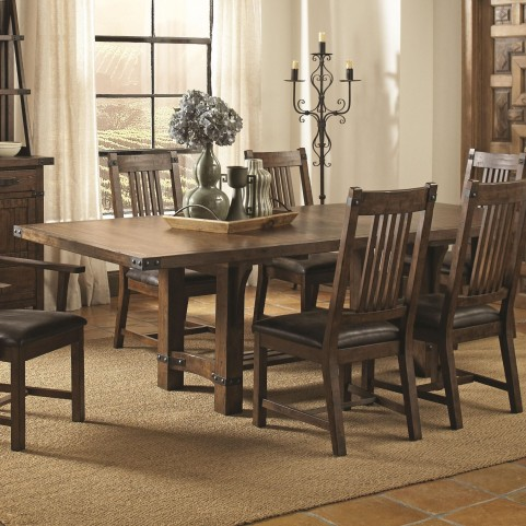 Padima Rustic Rough-Sawn Rectangular Extendable Dining Table