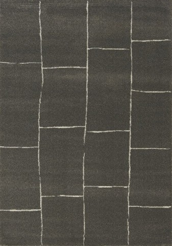 Palace Black/White Brick Medium Rug