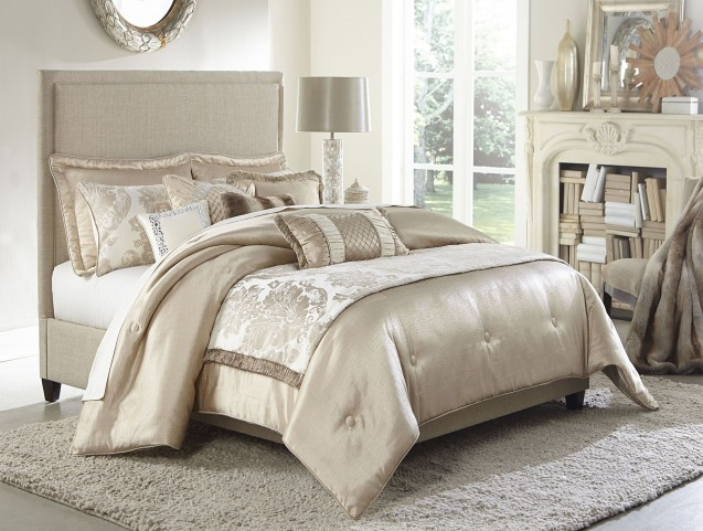 Palermo Sand 10 piece Queen Comforter Set