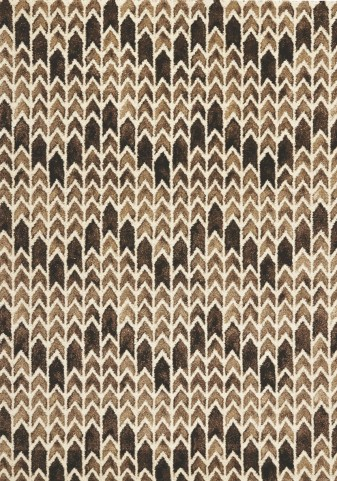 "Palette Brown Chevron 63"" Rug"