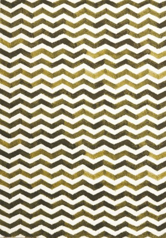 "Palette Green Chevron 63"" Rug"