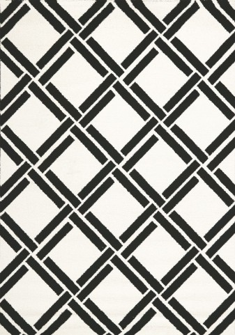 Palette White/Black Grid Medium Rug