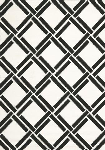 Palette White/Black Grid Small Rug