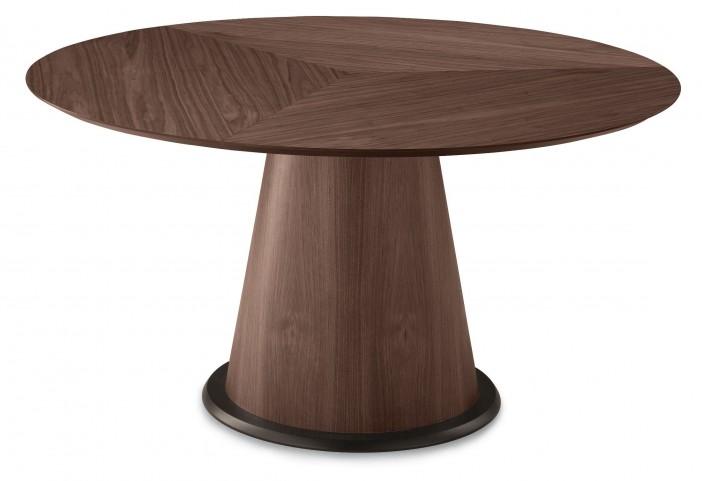 Palio Chocolate Oak veneered post Round Table