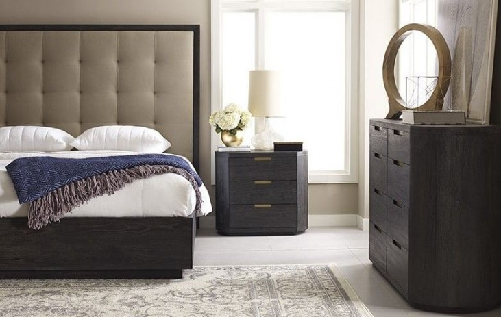 Palmer Mink Upholstered Platform Bedroom Set