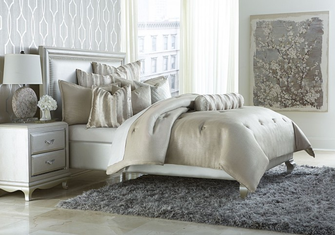 Paparazzi Silver 9 piece Queen Comforter Set