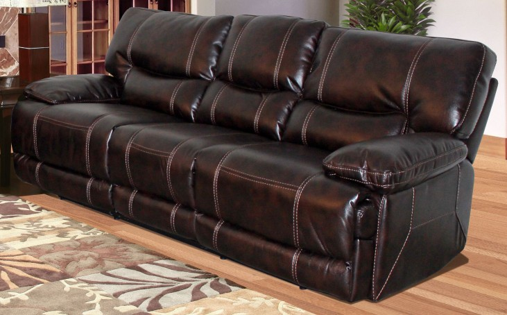 Pegasus Nutmeg Dual Power Reclining Sofa