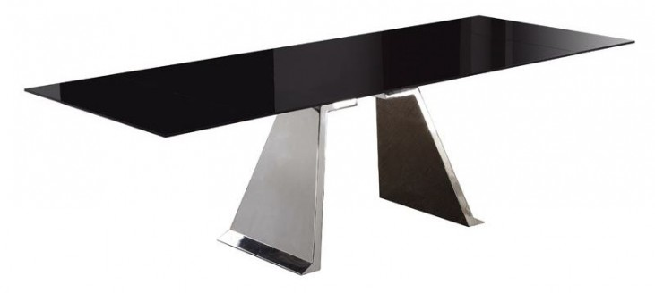 Penthouse Black Extendable Rectangular Dining Table