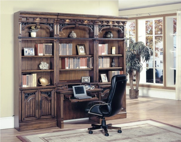 Barcelona Library Desk Wall Unit