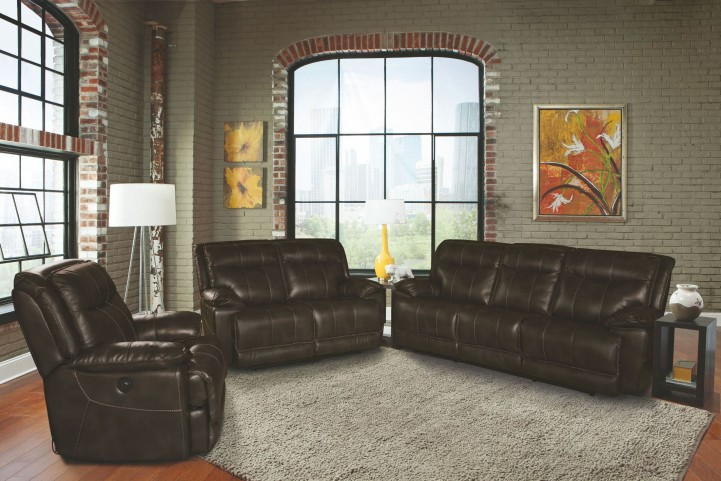 Phoenix Truffle Dual Power Reclining Living Room Set