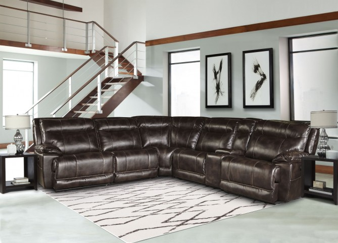 Phoenix Truffle Power Reclining Sectional