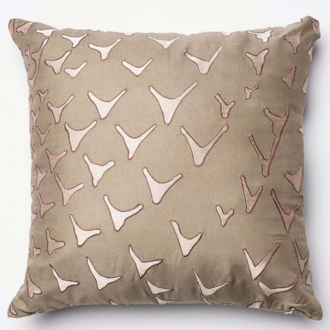 Britt Taupe Square Pillow
