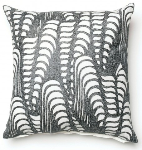 Avril Silver Square Pillow