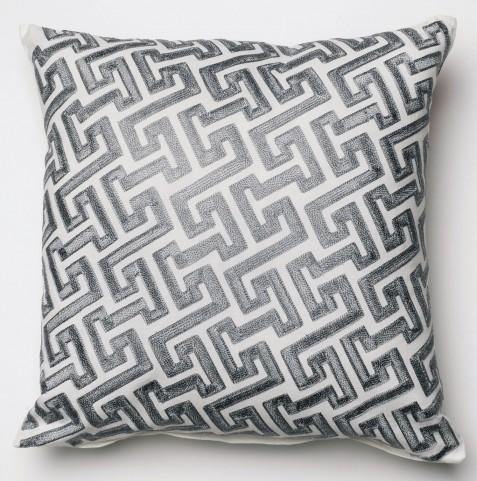PL4110-PK Gray Square Pillow