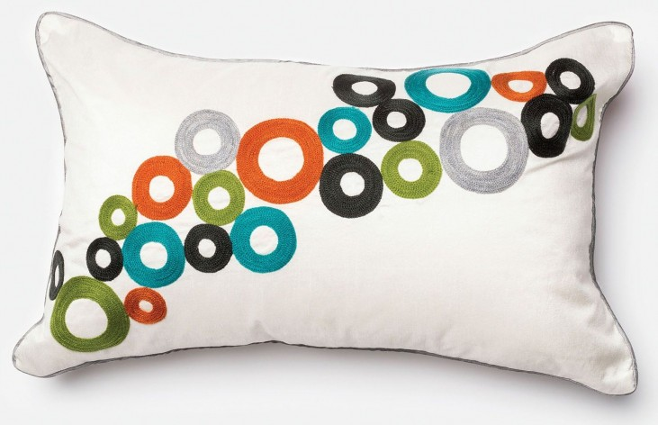 Betsy Multi-Color Multi Rectangular Pillow
