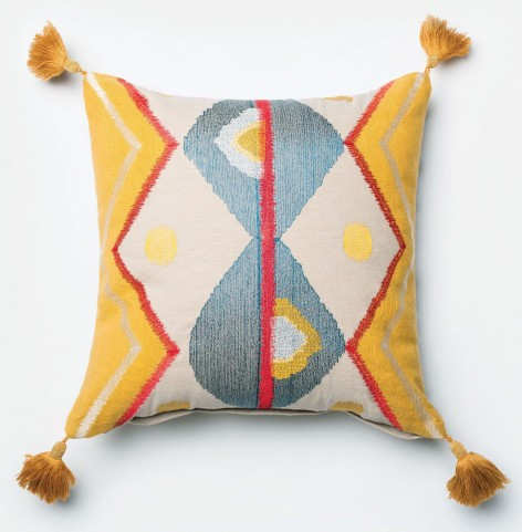Allison I Yellow and Multi Throw Pillow