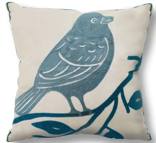 """Twit Bird 18"""" Pillow Set of 6"""