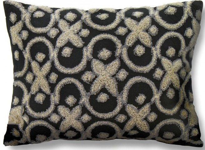 "Tia Black 18"" Pillow Set of 6"