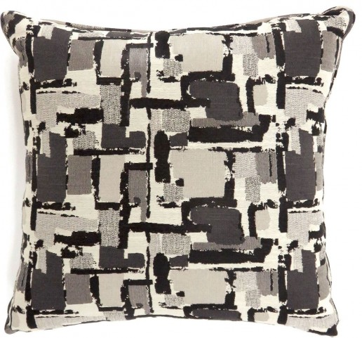 "Concrit Black 22"" Pillow Set of 2"