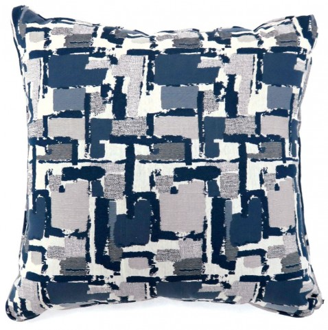 "Concrit Blue 22"" Pillow Set of 2"