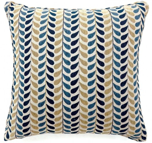 "Dropp Blue And Yellow 18"" Pillow Set of 2"