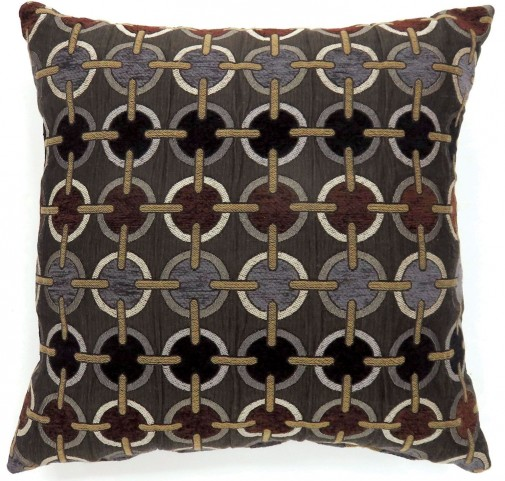 "Targe Brown 18"" Pillow Set of 2"
