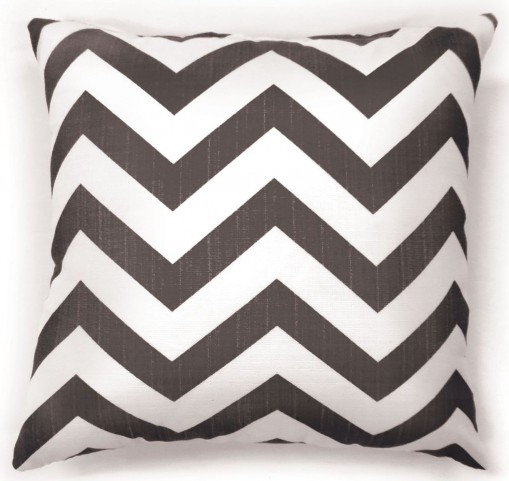"Zoe Gray Chevron 22"" Pillow Set of 2"