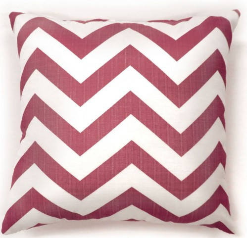 "Zoe Red Chevron 18"" Pillow Set of 2"
