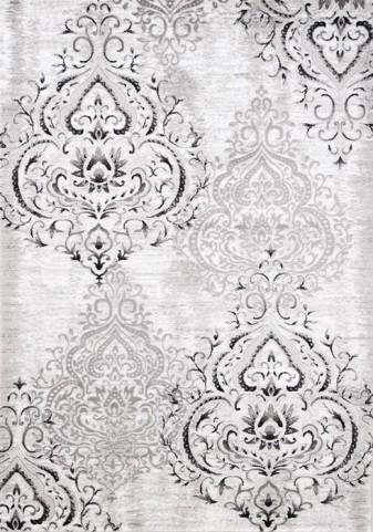 Platinum Venetian Silver Damask Rug