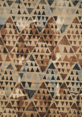 Platinum Brown/Tan Tribal Diamonds Large Rug