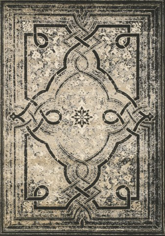 Platinum Black and Beige Knot Medium Rug