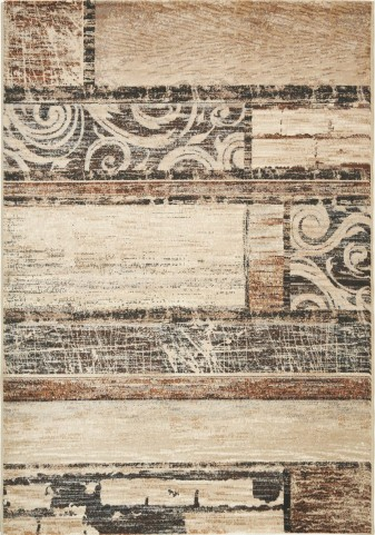 "Platinum Antiqued Hardwood 94"" Rug"