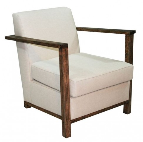 Playa Taupe Linen Accent Chair