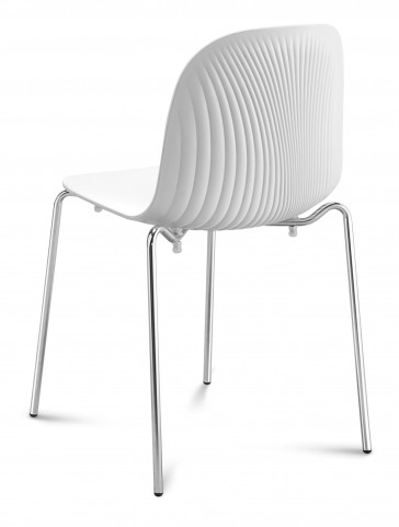 Playa White Stacking Chair Set of 2