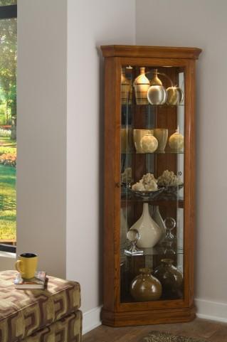 Golden Oak II Corner Curio