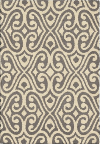 Orian Rugs Plush Damask Santee Taupe Area Small Rug