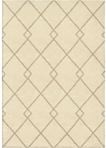 Orian Rugs Plush Criss-Cross Crisscross Ivory Area Small Rug