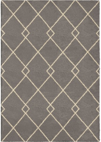 Orian Rugs Plush Criss-Cross Crisscross Taupe Area Small Rug