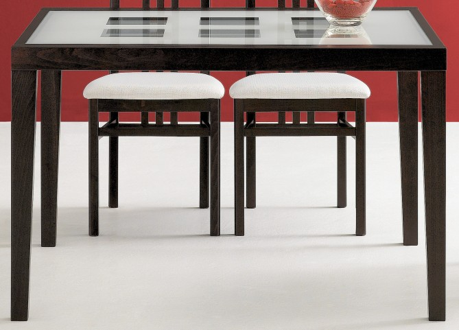 Poker Walnut Rectangular Table