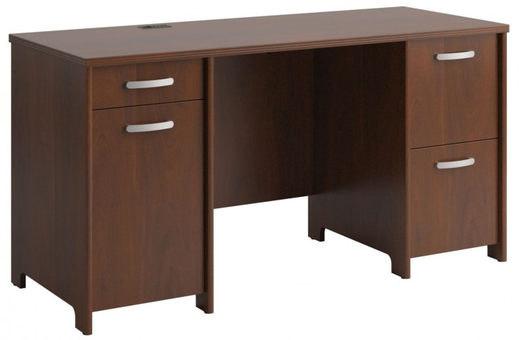 "Envoy Hansen Cherry 58""W Double Pedestal Desk"