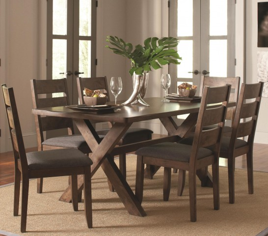 Alston Knotty Nutmeg Rectangular Dining Room Set