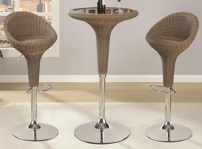 Adjustable Rattan Bar Set