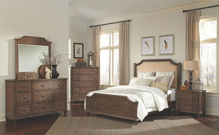 Dalgarno Mushroom Panel Bedroom Set